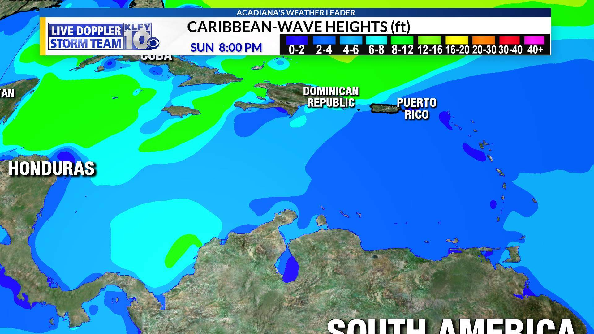 Caribbean Wave Heights