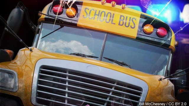 Minor injuries reported in Youngsville school bus crash; no students were harmed