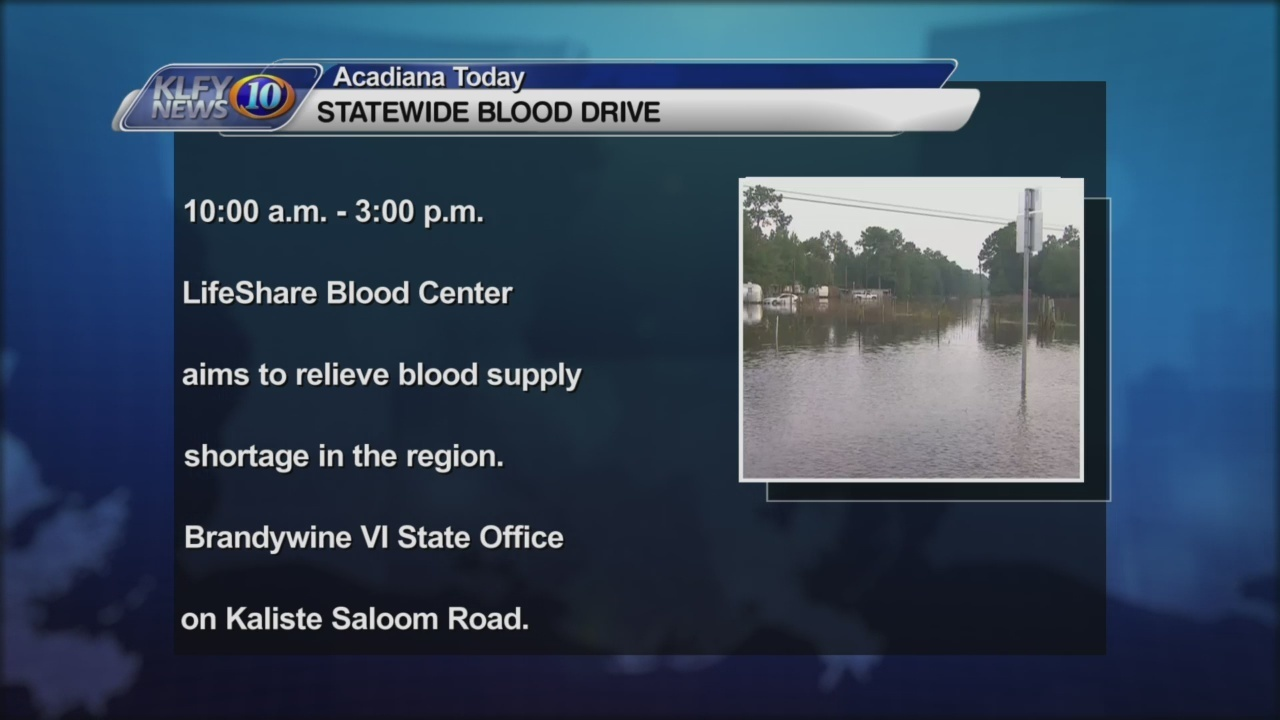 Edwardsu0027 Office Plans Statewide Blood Drive; Donation Site Located In  Acadiana