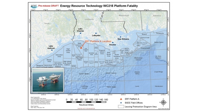 Oil Rigs In Gulf Of Mexico Map.Worker Killed On Oil Platform In The Gulf Of Mexico
