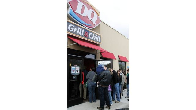 Free ice cream cones at Dairy Queen on Tuesday