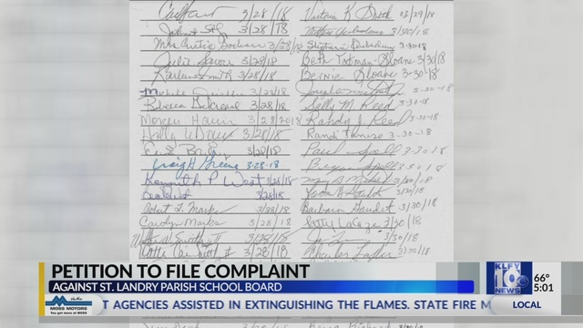 Residents Sign Petition For Complaint Against St Landry Parish