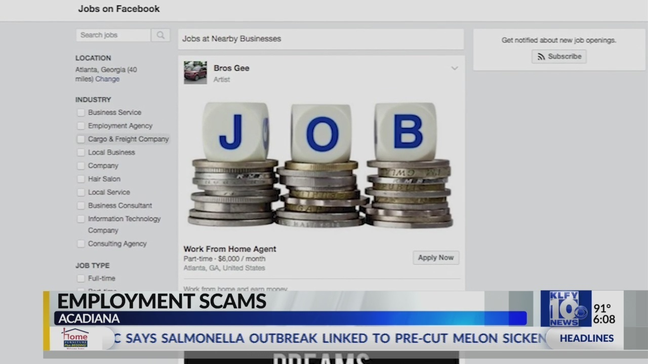online employment scams hitting acadiana