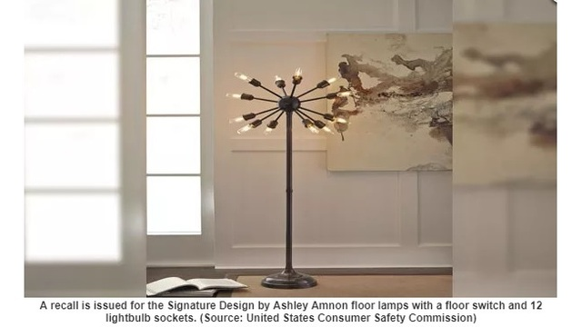 Ashley furniture floor lamps recalled for burn hazard klfy ashley furniture floor lamps recalled for burn hazard aloadofball Image collections