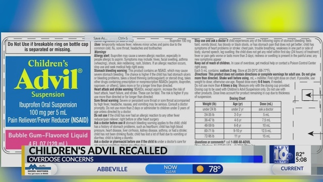 Pfizer Is Recalling Some Childrens Advil Because Instructions On