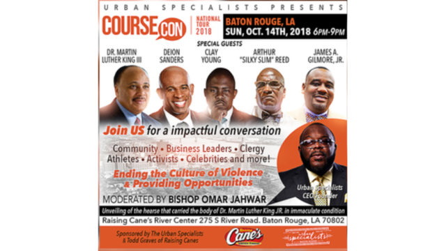 Martin Luther King III to celebrate reduced violence at