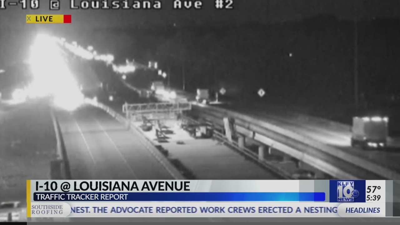 DOTD: I-10 West closed at Louisiana Ave