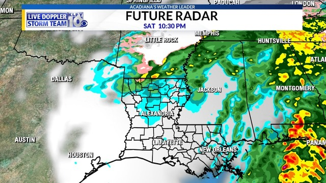 Wintry mix possible for northern Louisiana tonight, much colder ...