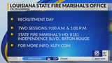 Louisiana State Fire Marshal's Office hosting Recruitment Day in Baton Rouge Headquarters