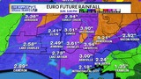 WEATHER BLOG: Several inches of rainfall possible through the week ahead