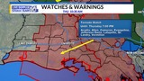 TORNADO WATCH issued for all of Acadiana through 7pm