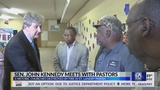 Senator John Kennedy visits with pastors of burned St. Landry Parish churches
