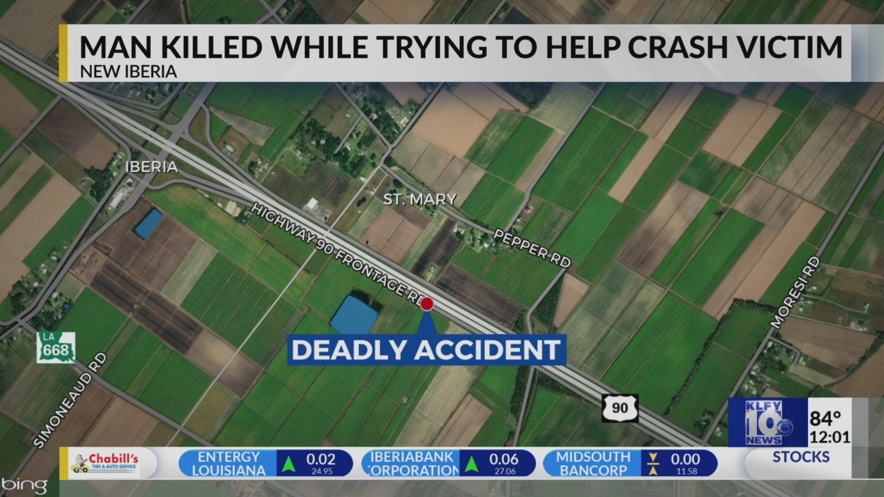 Good Samaritan killed while trying to assist crash victim on