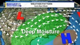 WEATHER BLOG: Deep moisture/instability will lead to storms Monday and Tuesday