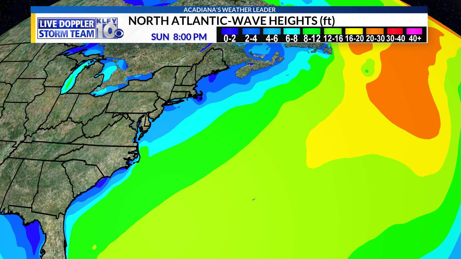 N Atlantic Wave Heights